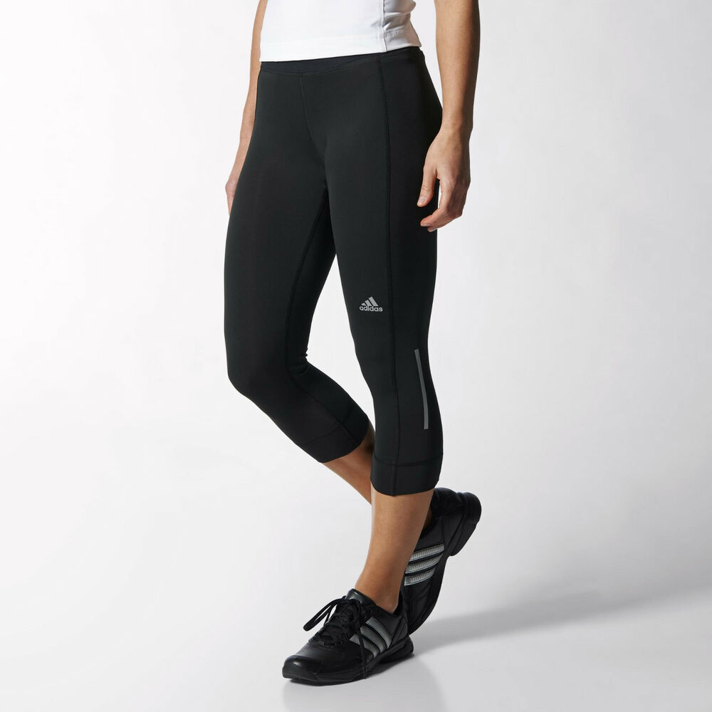 22694796e89 Details about Adidas Sequencials Climacool 3/4 Gym Sports Running Leggings  - Black - XS S M