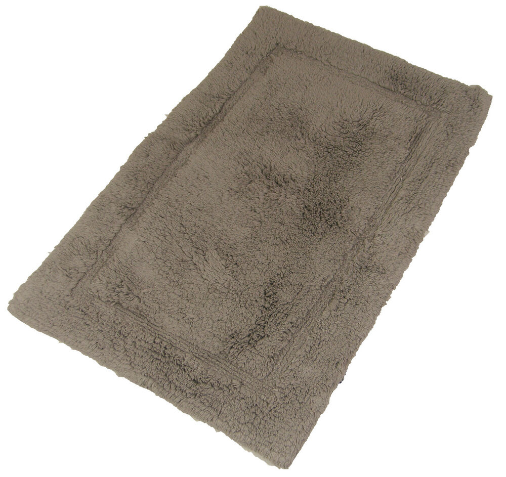 Luxurious 100 Soft Cotton Fluffy Stone Taupe Rug Bathroom