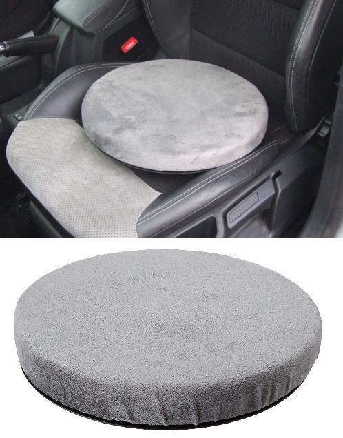 swivel chair rotating seat mobility aid cushion with memory foam car home office ebay. Black Bedroom Furniture Sets. Home Design Ideas