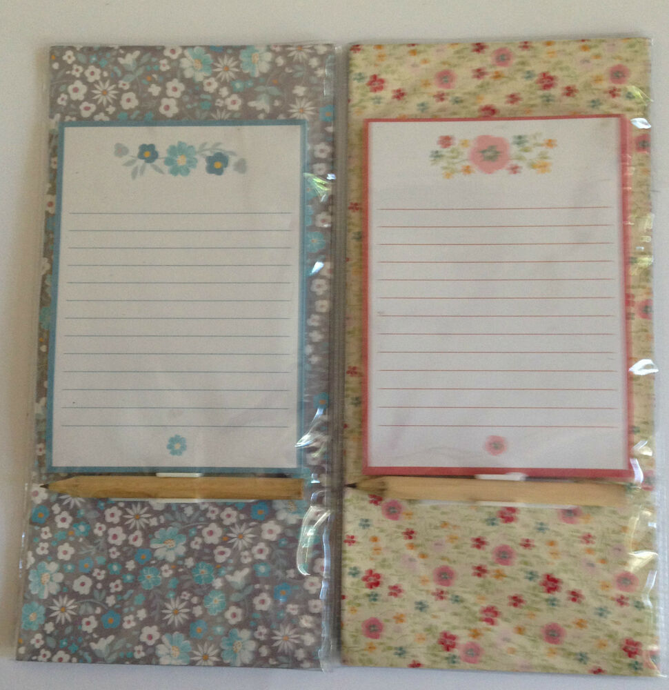 Kitchen Fridge Magnetic Memo Shopping Pad & Pencil blue or