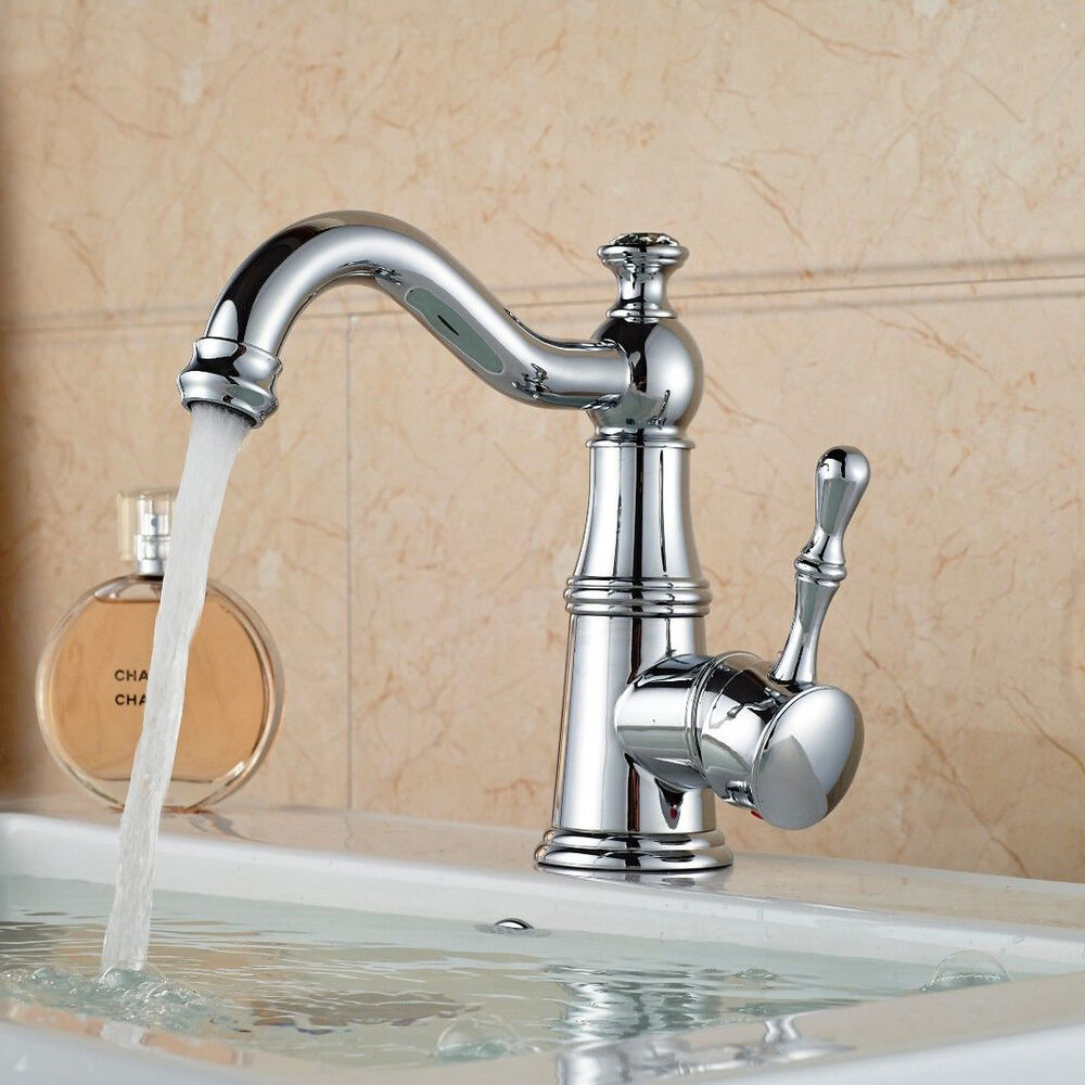 Crystal Style Polished Chrome Brass Bathroom Basin Faucet Vanity Sink Mixer Tap Ebay