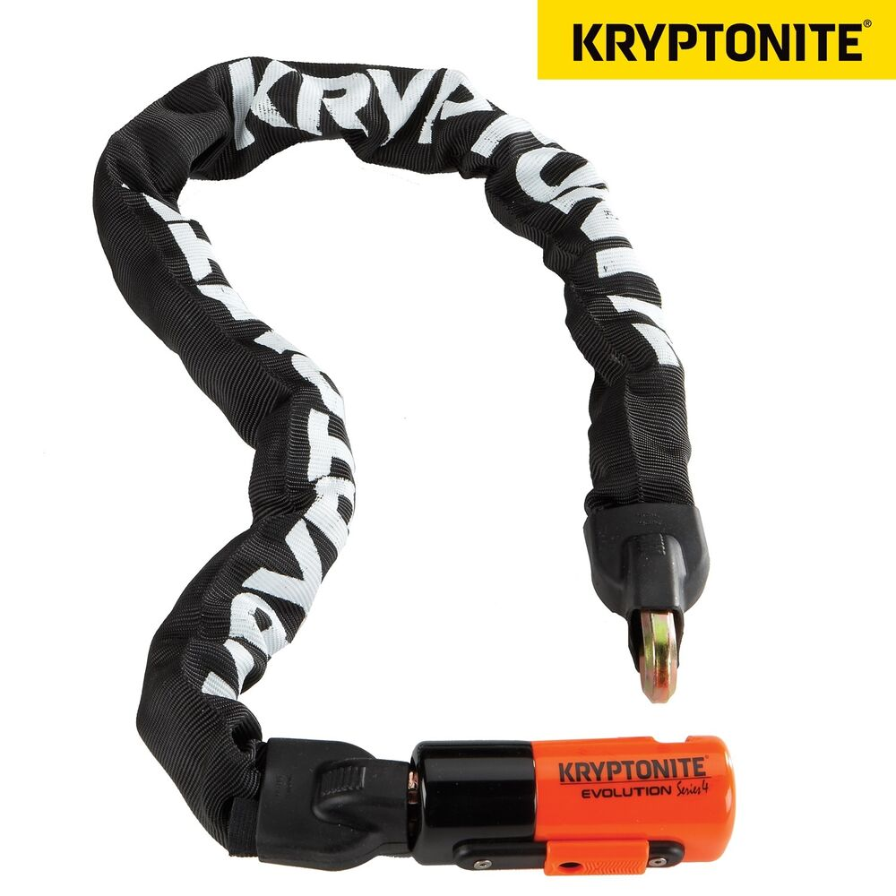 kryptonite evolution series 4 1090 integrated chain bike cycle lock 10mmx90cm ebay. Black Bedroom Furniture Sets. Home Design Ideas