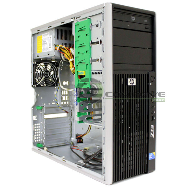 hp z400 workstation case chassis with front panel dvd rom psu mpn 468619 001 ebay. Black Bedroom Furniture Sets. Home Design Ideas