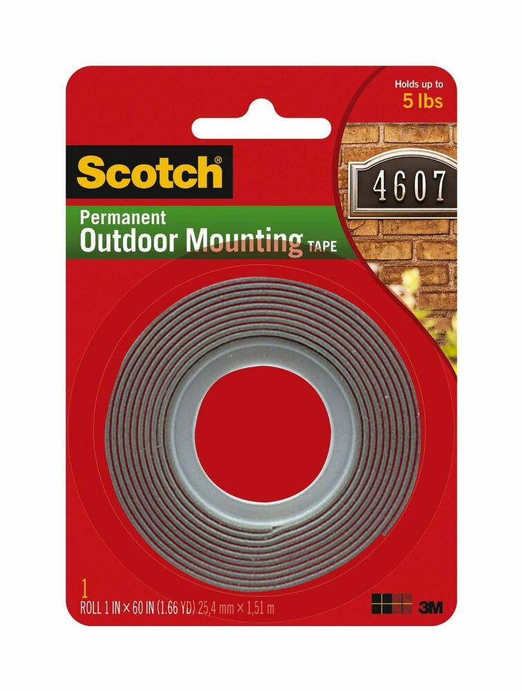 3m 4011 Scotch Exterior Mounting Tape 1 Inch By 60 Inch Ebay