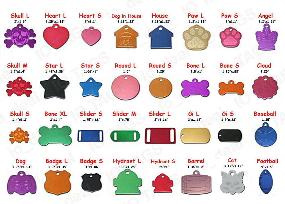 MADE IN USA Pet Tags Custom Engraved Paw ID Tag Dog Tag ...