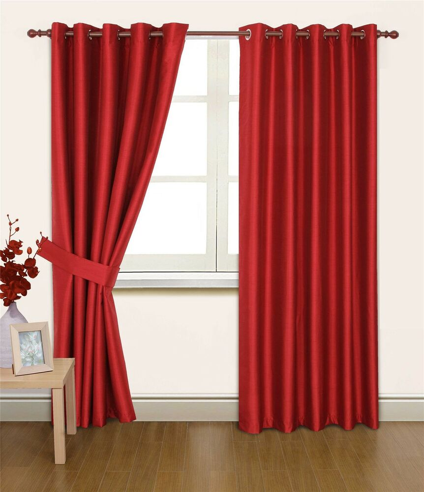 ... SILK 46X54 THERMAL LINED BLACKOUT HEAVYWEIGHT RING TOP CURTAINS   eBay