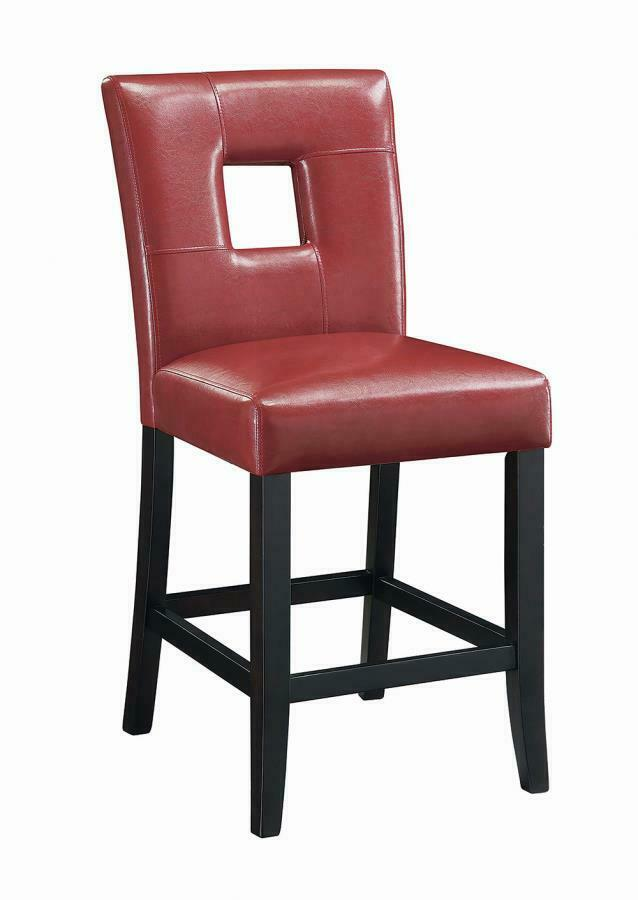 Newbridge Red Vinyl Counter Height Stool Chair By Coaster