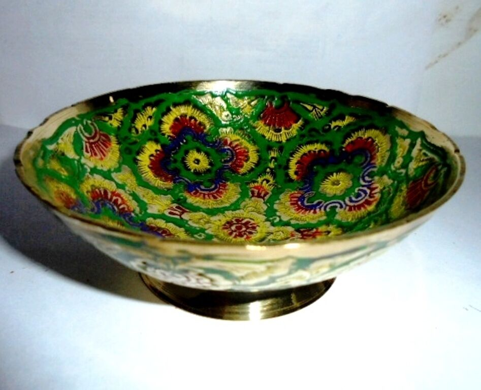 Brass Decorative Vintage Bowl Handpainted Bowl Home Decor India Gifts Art Ethnic Ebay