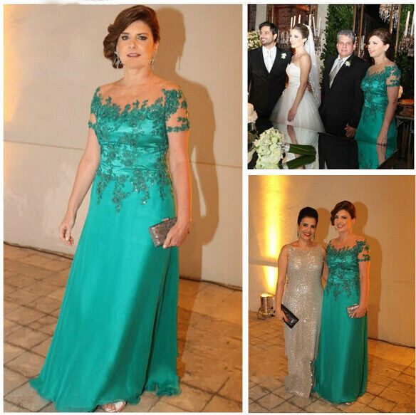 Wedding Gown For Parents: Custom Applique Long Mother Of The Bride Party Bridal
