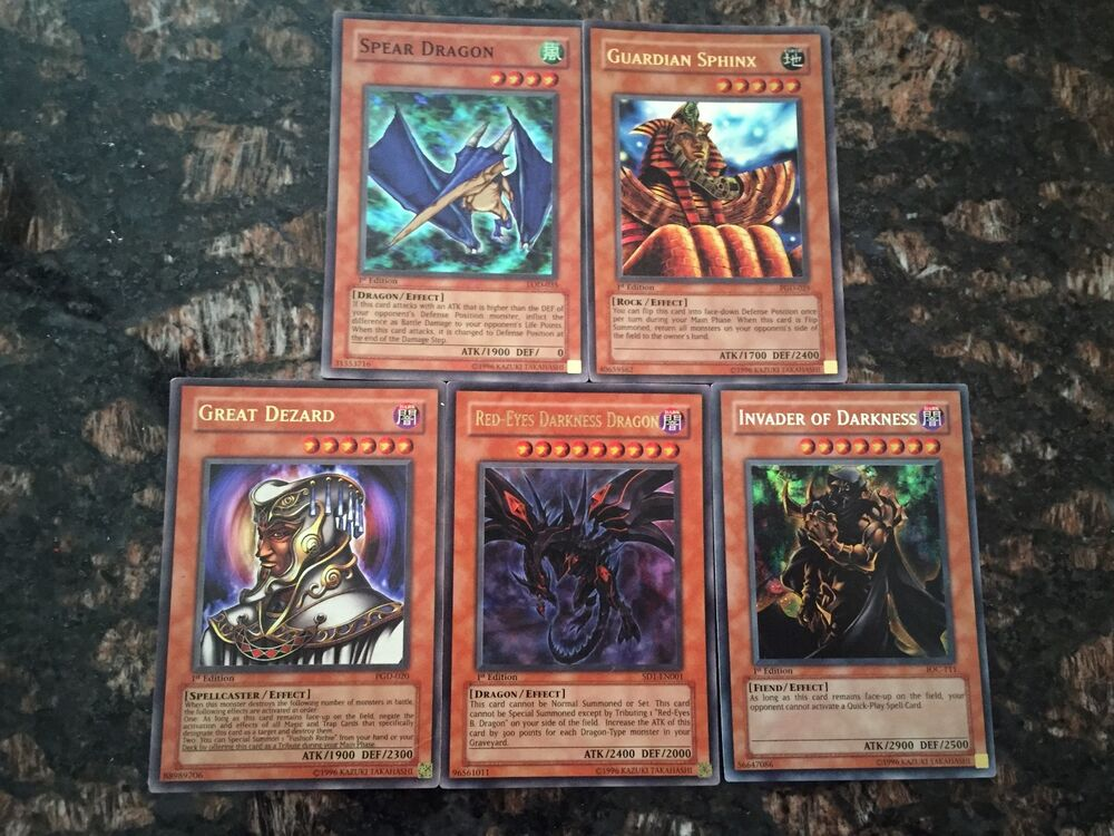 5 holo rare yu gi oh cards monsters all 1st edition all near mint condition ebay. Black Bedroom Furniture Sets. Home Design Ideas
