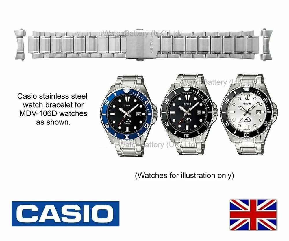 Genuine Casio Watch Strap.Replacement Metal Bracelet for ...
