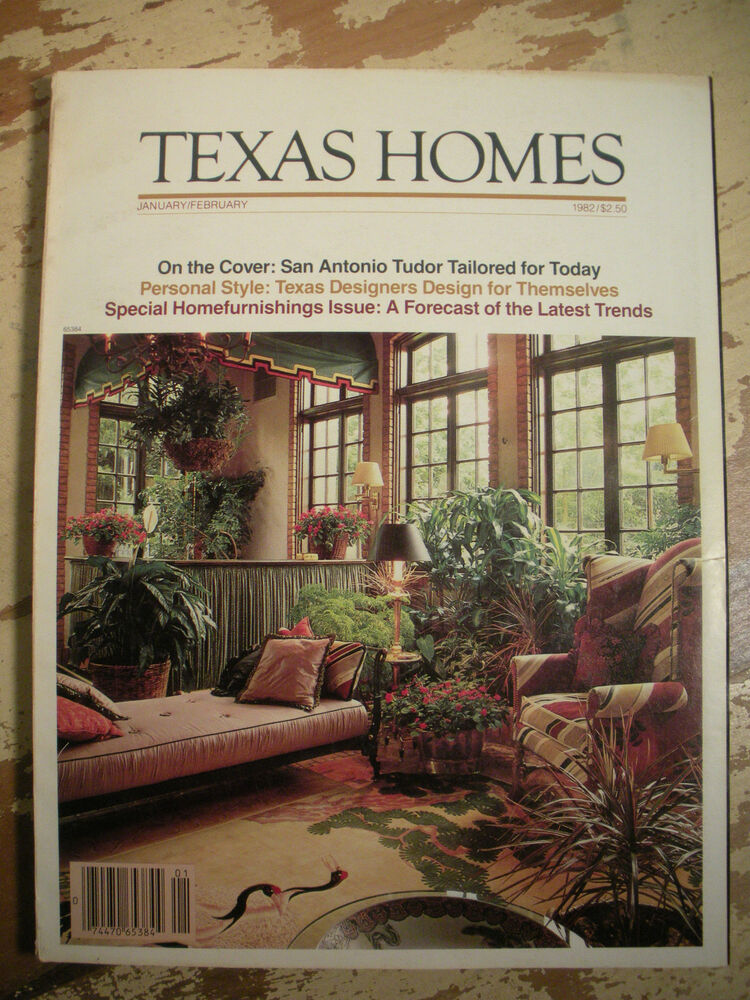 Texas Homes Magazine January February 1982 San Antonio