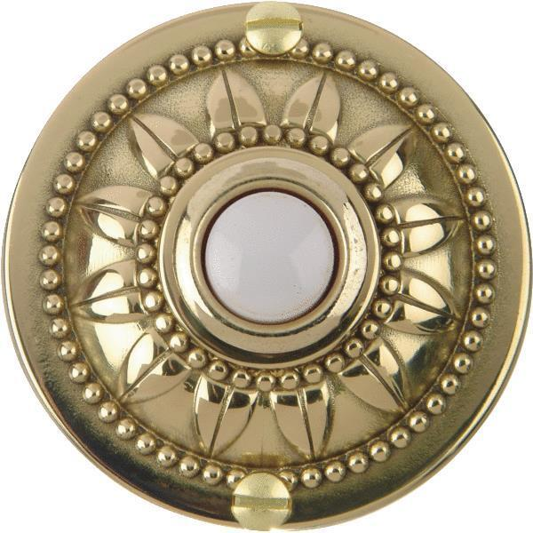 carlon polished brass wired push button for door bell no. Black Bedroom Furniture Sets. Home Design Ideas