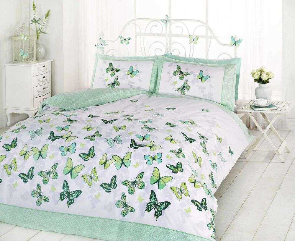 Superb Trendy Funky Cotton Butterfly Green King Size Duvet