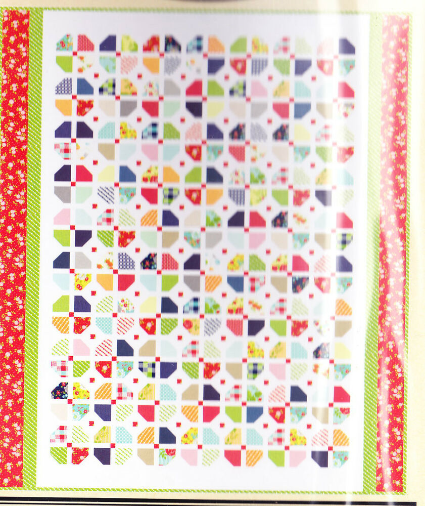 Topsy Turvy Easy Pieced Quilt Pattern From Charm Squares