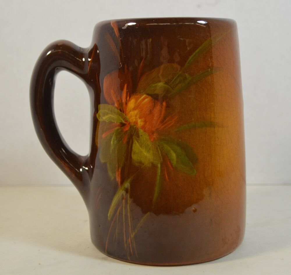 Vintage arts and crafts pottery mug weller or rookwood for Arts and crafts pottery