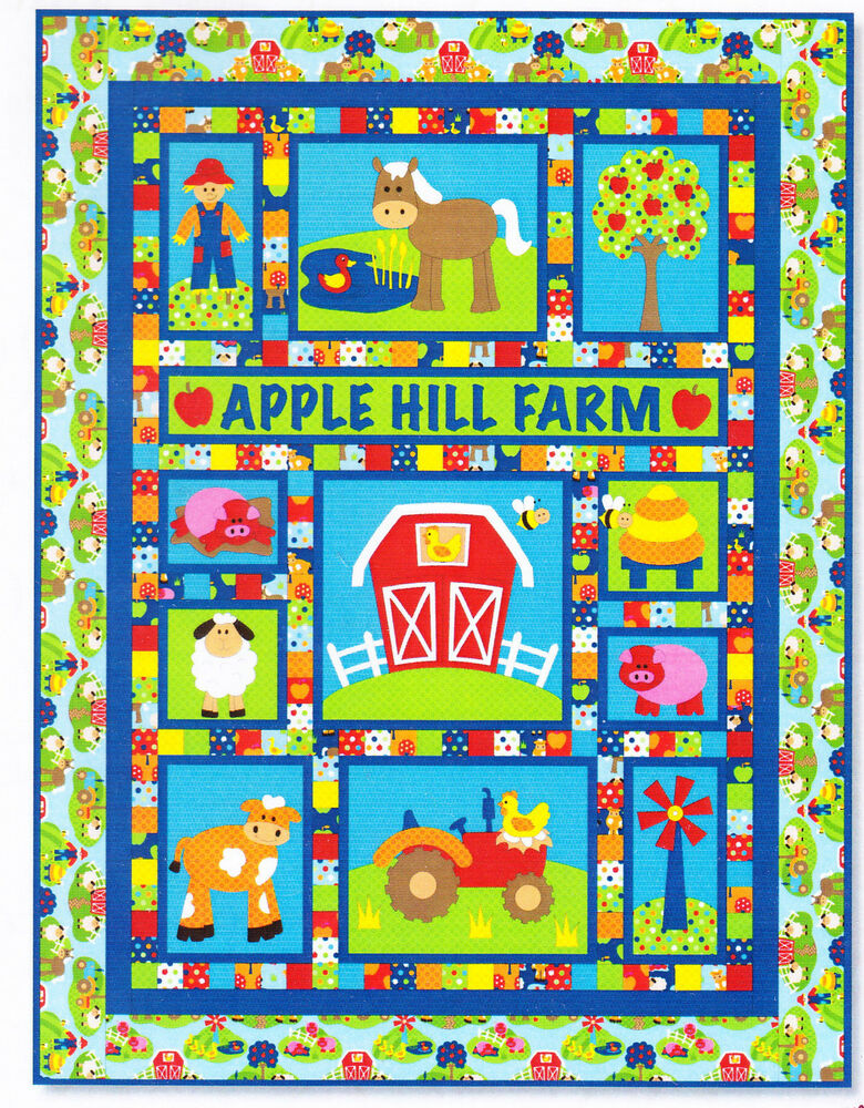 Apple Hill Farm - applique & pieced quilt PATTERN - Kids ...