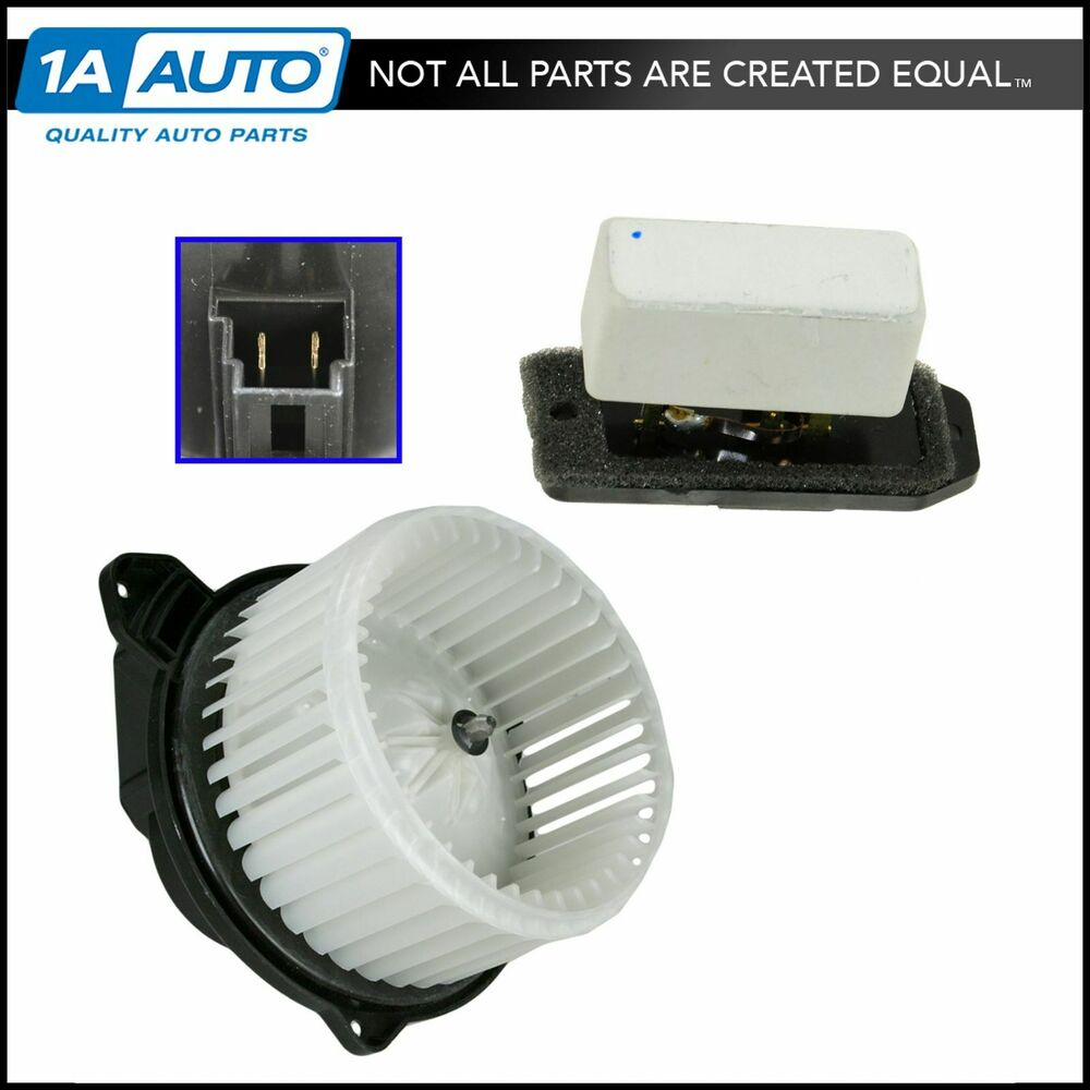 Heater Blower Motor With Fan Cage Resistor Kit Set For