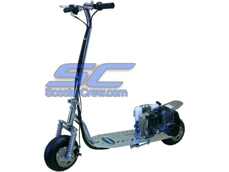 Chrome Scootercrew Xracer 49cc Gas Scooter 2 Cycle All