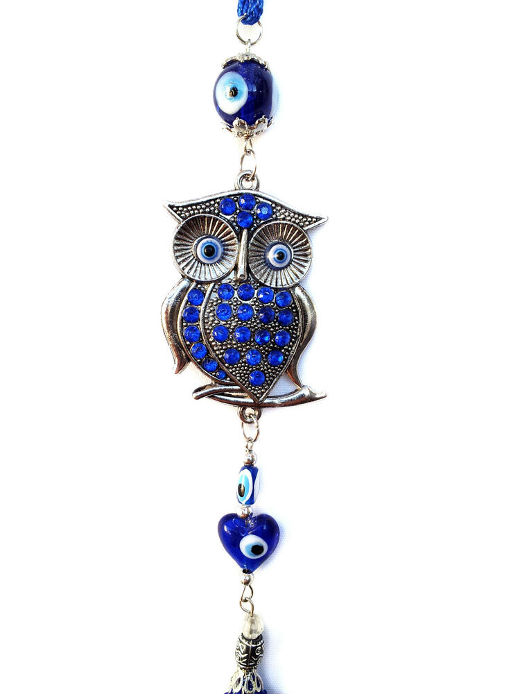 Evil Eye Decoration Wall Hanging : Blue evil eye charm almulet hanging or wall decoration for