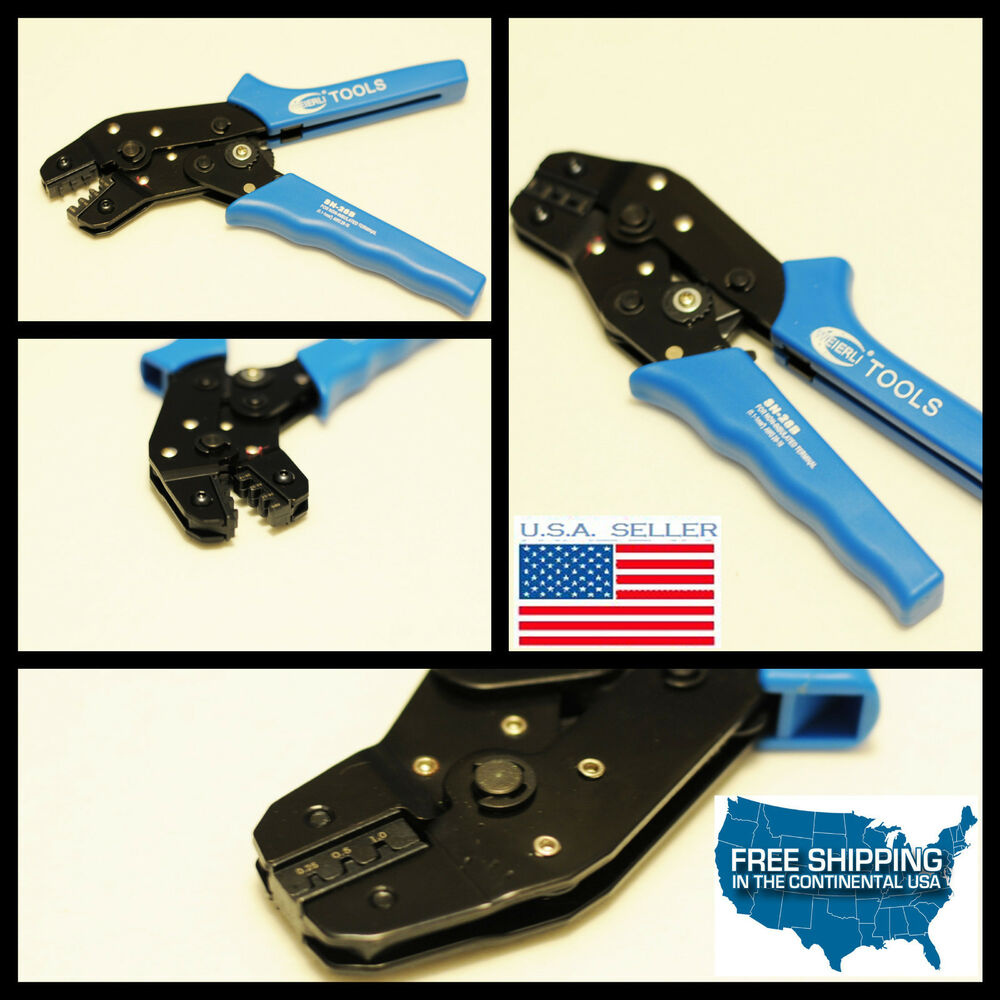 Electrical Terminal Crimp Plier Crimper Hand Wire Crimping Tool 22-12 AWG new