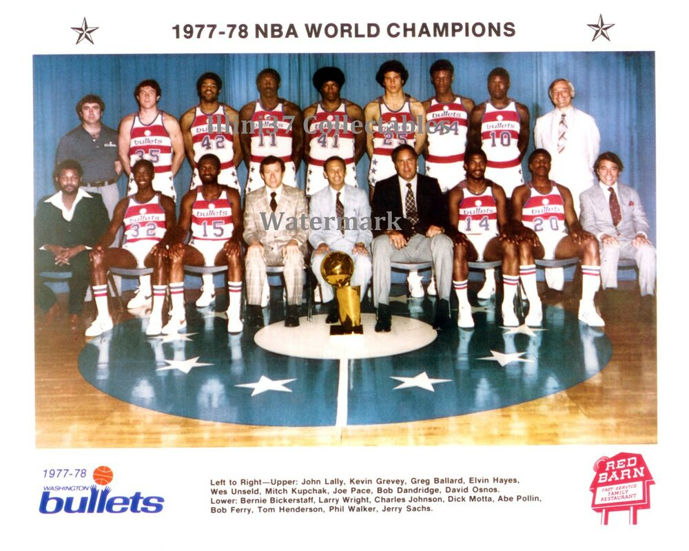1977 78 WASHINGTON BULLETS NBA CHAMPIONS TEAM PHOTO 1 HAYES