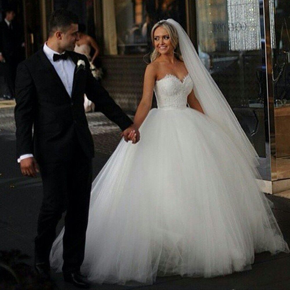 Princess Wedding Gowns: New Vintage Princess Ball Gown Wedding Dresses Beaded