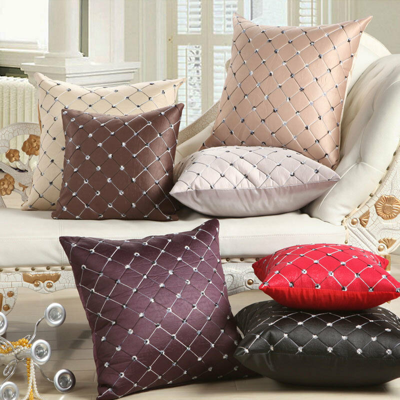 How To Make Throw Pillows For Bed : Home Sofa Bed Decor Multicolored Plaids Throw Pillow Case Square Cushion Cover eBay