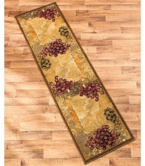 Decorative Throw Rugs: DECORATIVE WINE VINEYARD THEMED RUNNER OR ACCENT RUG