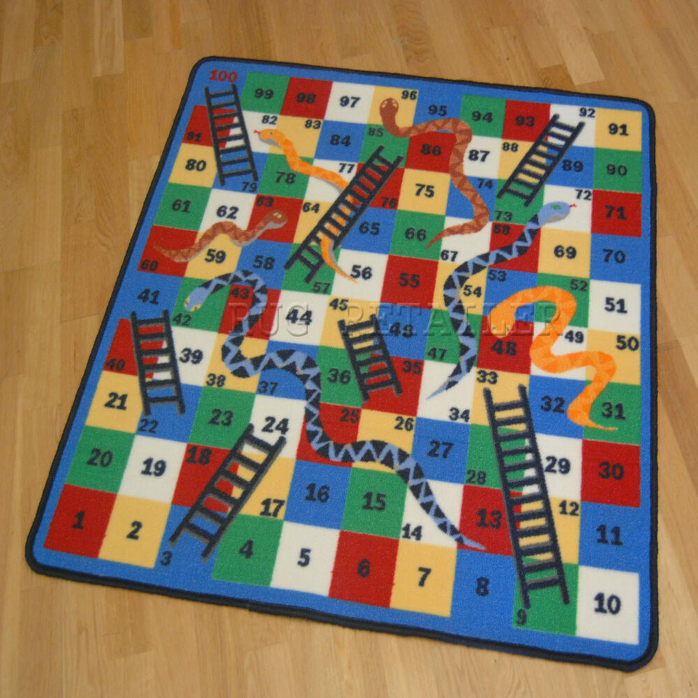 Childrens Kids Snakes Amp Laddres Rugs Play Mat Anti