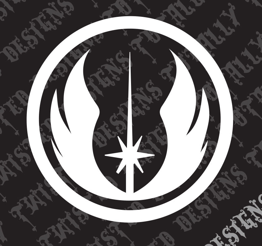 star wars jedi logo car truck vinyl decal sticker luke. Black Bedroom Furniture Sets. Home Design Ideas