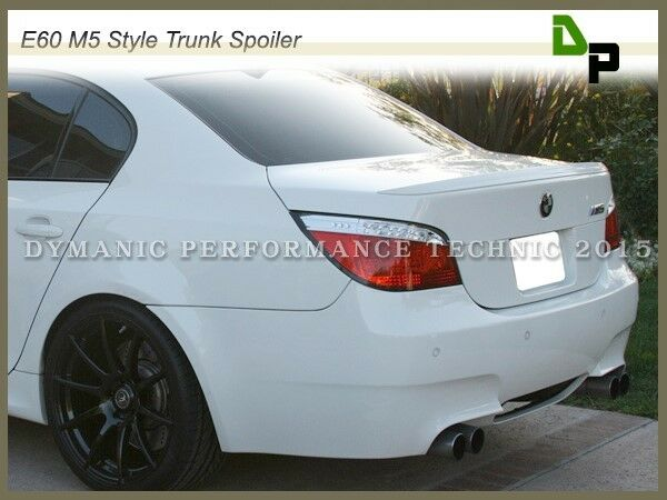 300 alpine white m5 style trunk spoiler bmw e60 528i 535i. Black Bedroom Furniture Sets. Home Design Ideas