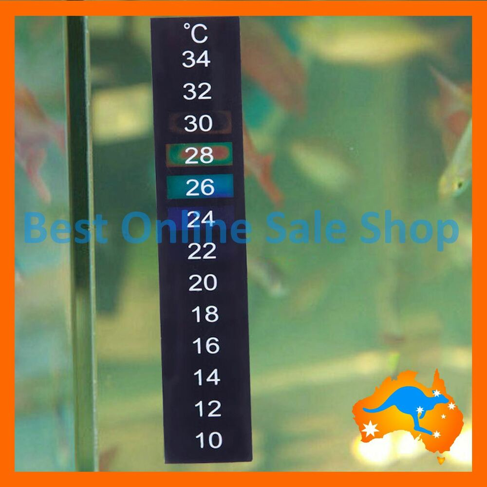 Strip temperature thermometer aquarium fish tank sticker for Fish tank temperature