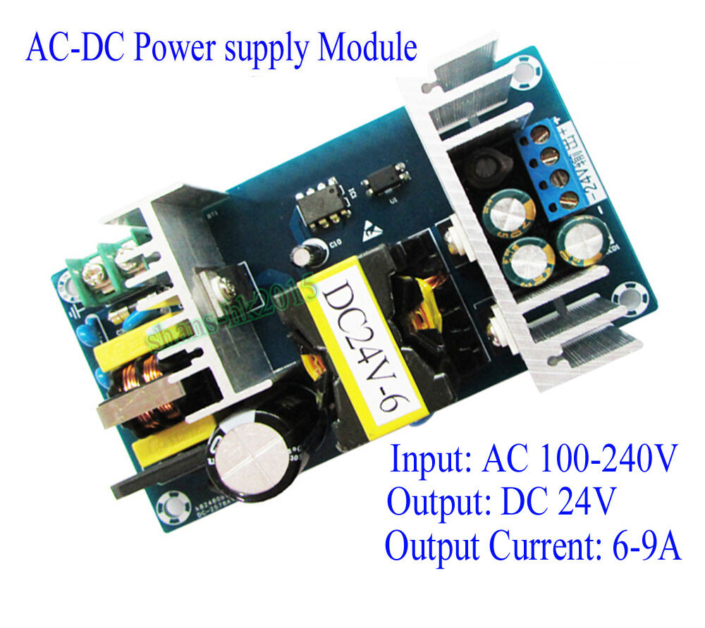 Ac 100 240v to dc 24v switching power supply module 9a for Power supply for 24v dc motor