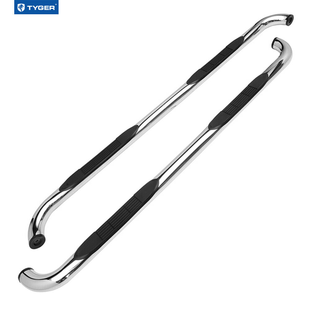 """4 Side Step For 2015 18 Chevy Colorado Gmc Canyon Crew: 3"""" Stainless Steel Side Step Bars 2015-2017 Chevy Colorado"""