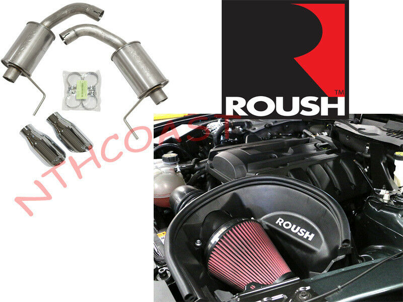 2015 Mustang Ecoboost Tune >> Roush Performance 2015 2016 Mustang EcoBoost Axle Back & Cold Air Intake Pack | eBay