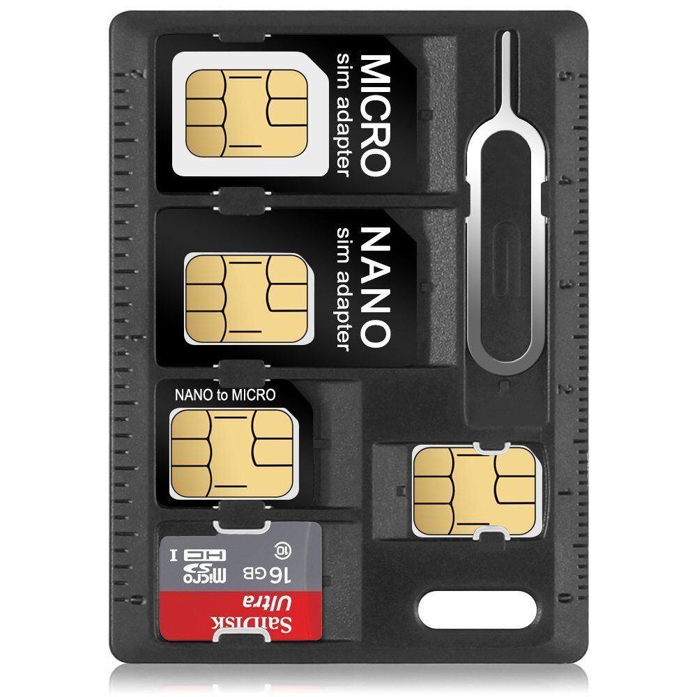 iphone sim pin mini sim card storage holder with 3 sim adapters amp 1 12318
