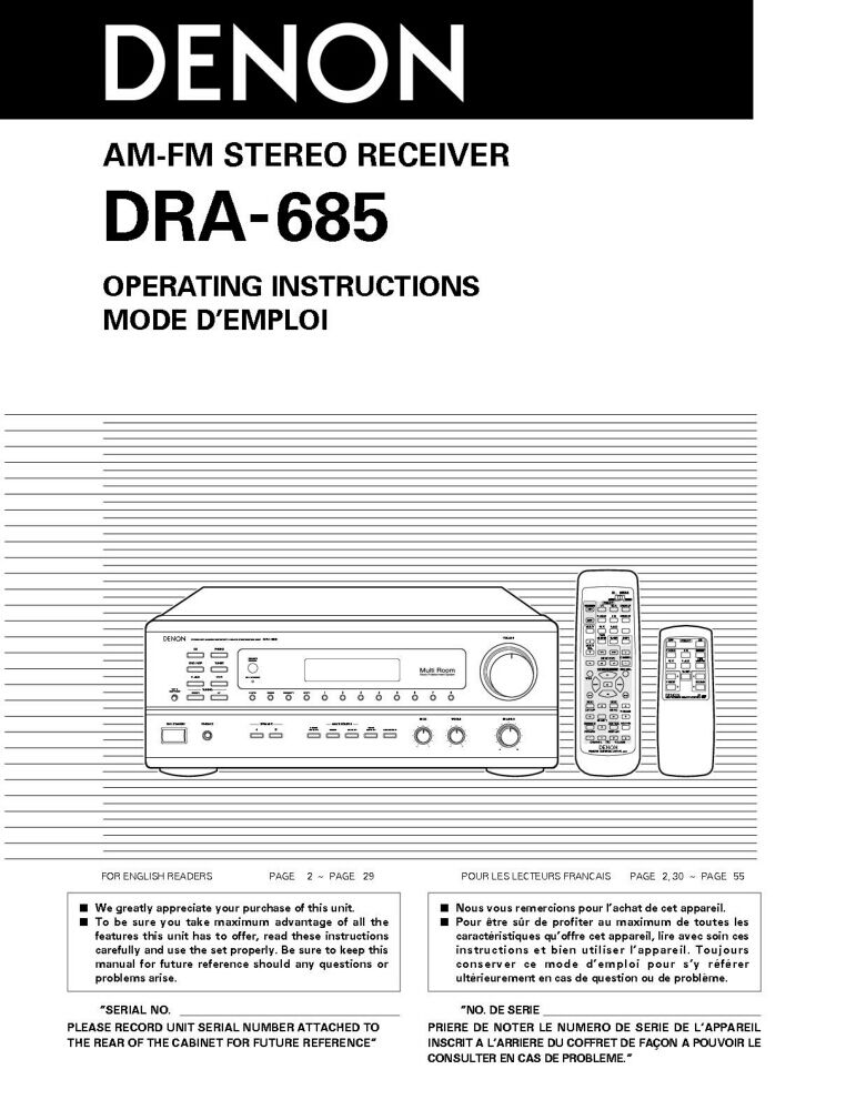 Denon dra 295 Service Manual