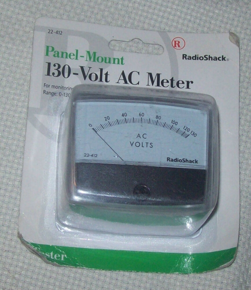 Panel Mount Frequency Counter : Radio shack v ac panel mount meter ebay