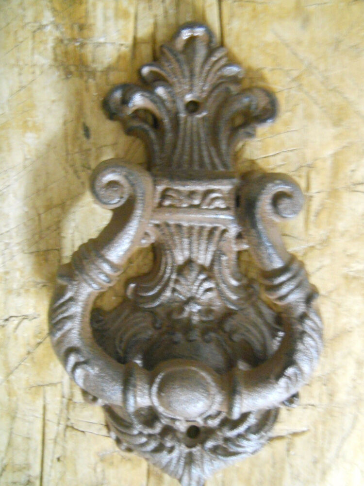 Cast Iron Antique Style Victorian Scroll Door Knocker