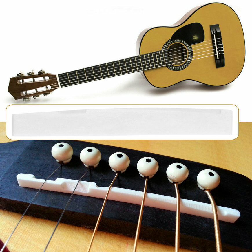 buffalo bone bridge saddle replacement parts for 6 string acoustic guitar fe ebay. Black Bedroom Furniture Sets. Home Design Ideas