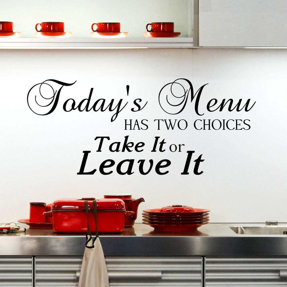 Kitchen wall decals quotes