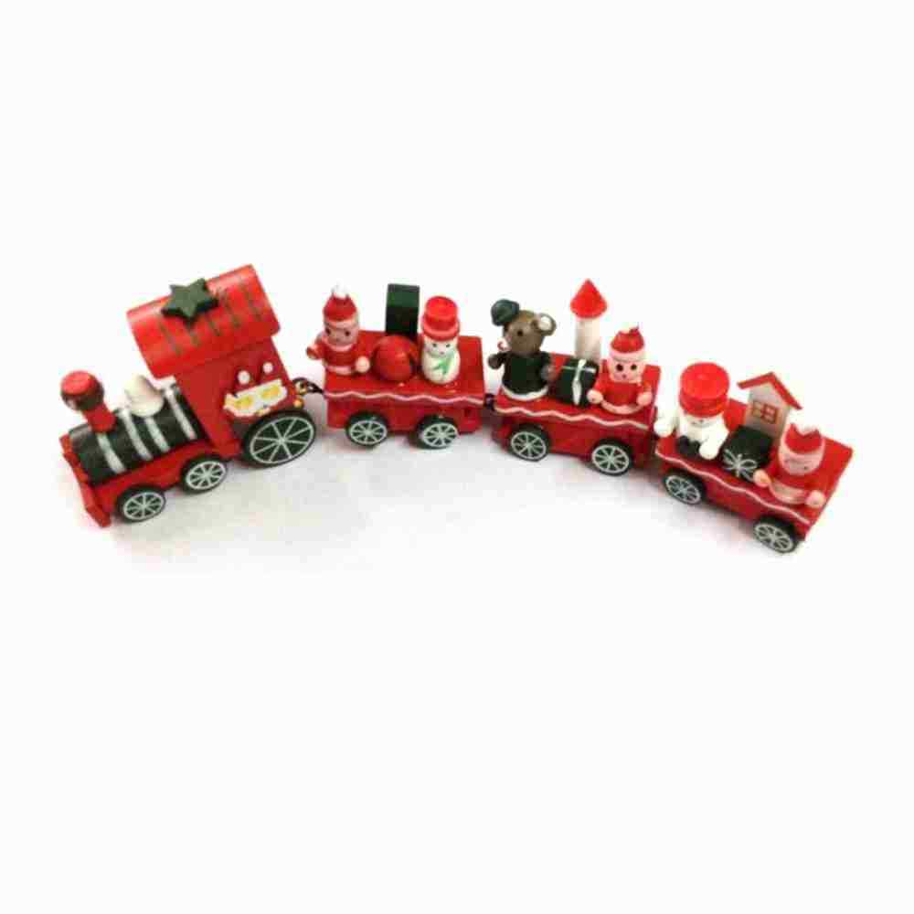 Wooden christmas xmas train ornament decor gift new for Decoration 4 christmas