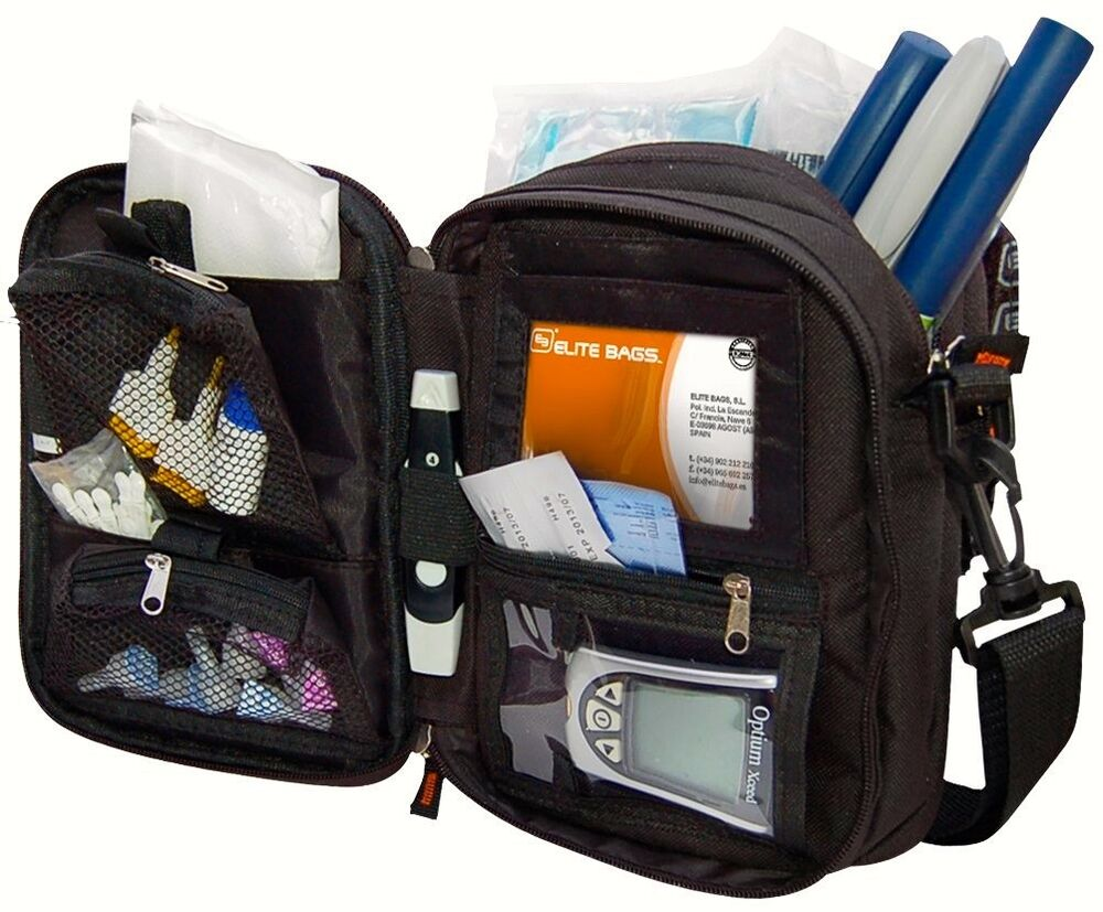 Elite Multi Compartment Insulin And Diabetic Kit Cool Bag Cooler Pouch 8436564540720 Ebay