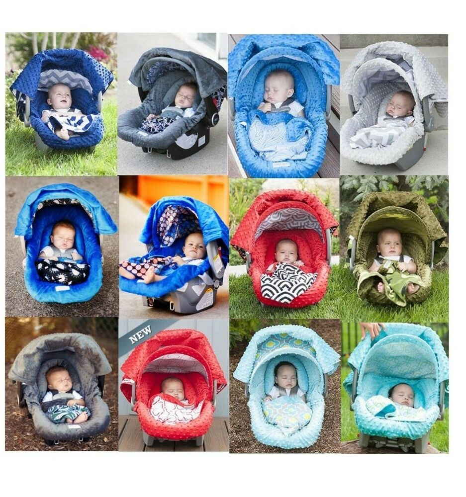 Whole Caboodle Carseat Canopy 5pc Set For Boy Infant Car