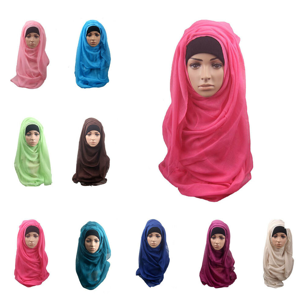 new muslim soft maxi islamic scarf high quality