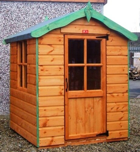Childrens wooden playhouse kids outdoor wendy house t g for Cheap outdoor playhouses