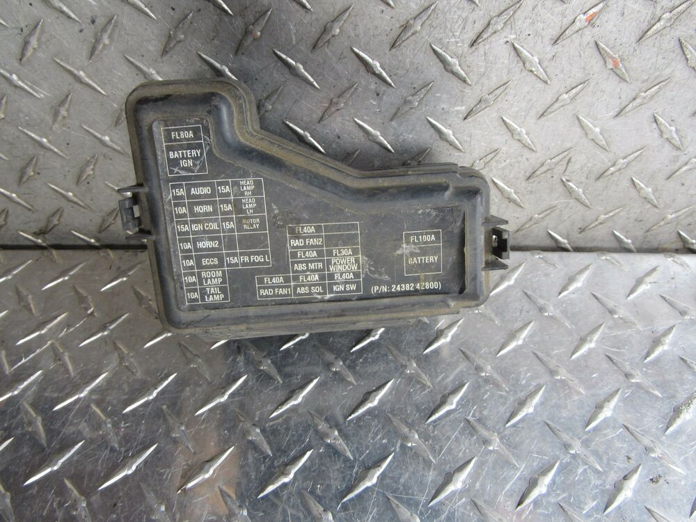 00 01 02 03 04 05 06 Nissan Sentra Engine Fuse Box 1 8l