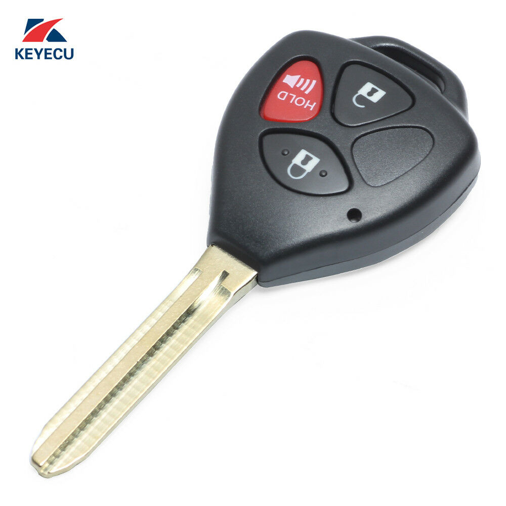 Uncut Remote Key Fob 3 Button For 2008 2012 Scion Xb Fcc