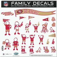 NEW NFL San Francisco 49ers Large Family Decal Set  FREE SHIPPING